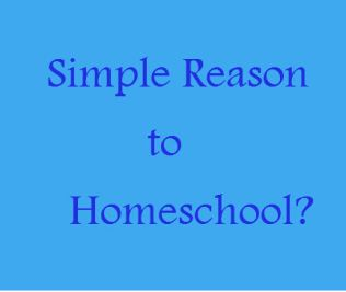 Simple Reason to Homeschool